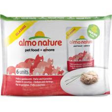 Almo Nature Adult Cat Classic Chicken & Shrimps ValuePack 6 x 55 г