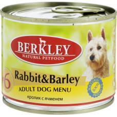Berkley Dog Rabbit & Barley