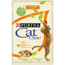 Purina Cat Chow Adult / С Курицей и Кабачками в Желе