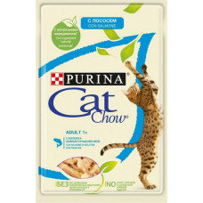 Purina Cat Chow Adult / С Лососем и Зеленым Горошком в Желе