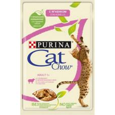 Purina Cat Chow Adult / С Ягненком и Зеленой Фасолью в Желе