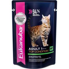 Eukanuba Cat Adult Top Condition (говядина в соусе)