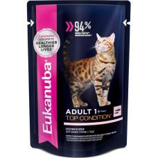 Eukanuba Cat Adult Top Condition (лосось в соусе)