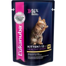 Eukanuba Kitten Healthy Start (курица в соусе)