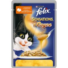 Purina Felix Sensations (кусочки в соусе с индейкой и беконом)