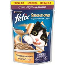 Purina Felix Sensations (кусочки в соусе с уткой и морковью)