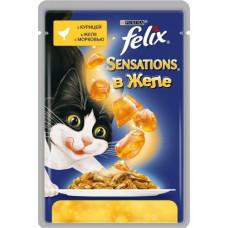 Purina Felix Sensations (кусочки в желе с курицей и морковью)