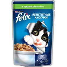 Purina Felix (аппетитные кусочки c кроликом в желе)