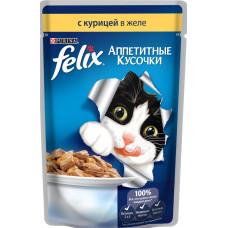 Purina Felix (аппетитные кусочки c курицей в желе)