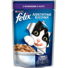 Purina Felix (аппетитные кусочки c ягненком в желе)