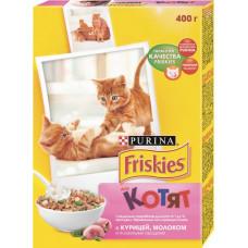 Purina Friskies для Котят с Курицей, Молоком и Полезными Овощами