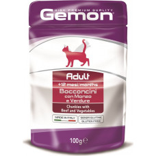 Gemon Cat Adult Chunkies with Beef and Vegetables