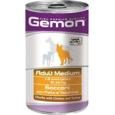 Gemon Dog Adult Medium Chunks with Chicken and Turkey