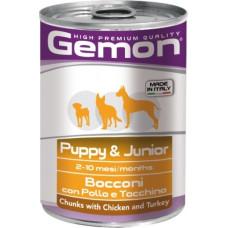 Gemon Dog Puppy & Junior Chunks with Chicken and Turkey