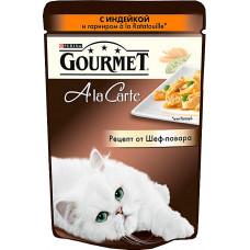 Purina Gourmet A la Carte с индейкой и гарниром a la Ratatouille