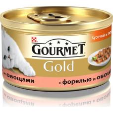 Purina Gourmet Gold (кусочки в подливе с форелью и овощами)