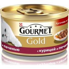 Purina Gourmet Gold (кусочки в подливе с курицей и печенью)
