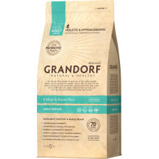 Grandorf Cat Adult Indoor 4 Meat & Brown Rice Living Probiotics