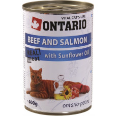 Ontario Beef and Salmon with Sunflower Oil