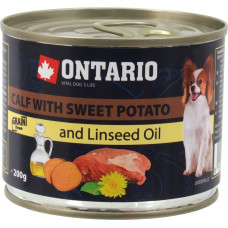 Ontario Mini Calf with Sweet Potato and Linseed Oil