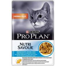 Purina Pro Plan Cat Derma Plus Кусочки Трески в Соусе