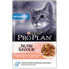 Purina Pro Plan Cat HouseCat Кусочки с Лососем в Соусе