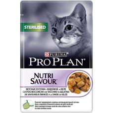 Purina Pro Plan Cat Sterilised Кусочки с Индейкой в Желе