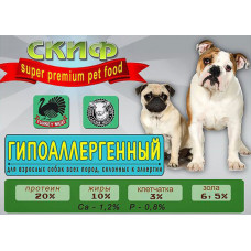 СКИФ гипоаллергенный для взрослых собак всех пород, склонных к аллергии