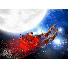 Tetra DecoArt Poster Santa&Snowman