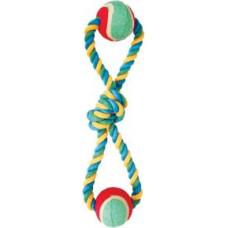 Triol Веревка восьмерка 35 см с узлом и 2 мячами