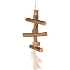 Trixie Лестница деревянная с веревкой 40 см