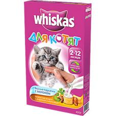 Whiskas Подушечки с молоком «Ассорти с индейкой и морковью» для котят
