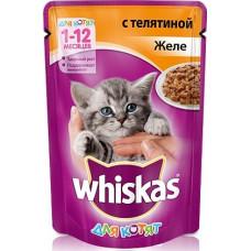 Whiskas Желе с телятиной для котят